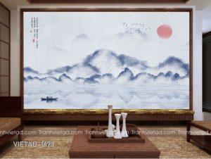 Tranh Dán Tường 3D Sơn Thủy VIETAD-1673