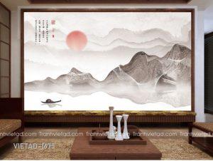 Tranh Dán Tường 3D Sơn Thủy VIETAD-1675