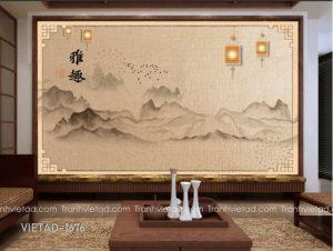 Tranh Dán Tường 3D Sơn Thủy VIETAD-1676