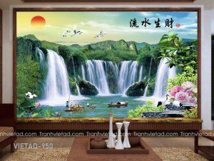 Tranh Dán Tường 3D Sơn Thủy VIETAD-950