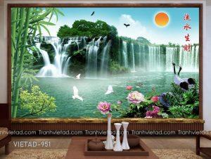 Tranh Dán Tường 3D Sơn Thủy VIETAD-951