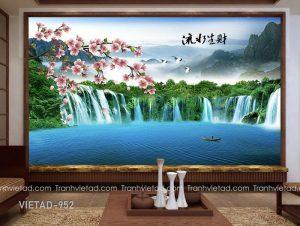 Tranh Dán tường 3D Sơn Thủy VIETAD-952