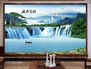 Tranh Dán Tường 3D Sơn Thủy VIETAD-953