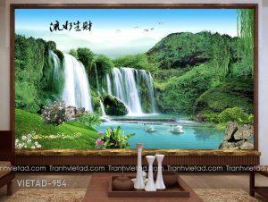 Tranh Dán Tường 3D Sơn Thủy VIETAD-954