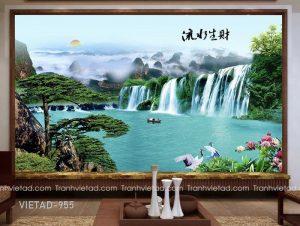 Tranh Dán Tường 3D Sơn Thủy VIETAD-955