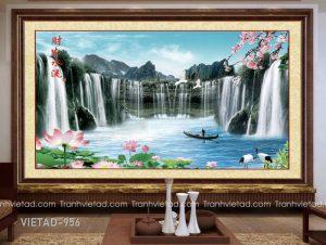 Tranh Dán Tường 3D Sơn Thủy VIETAD-956