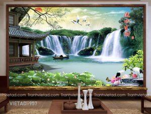 Tranh Dán Tường 3D Sơn Thủy VIETAD-957