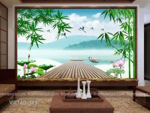 Tranh Dán Tường 3D Sơn Thủy VIETAD-985