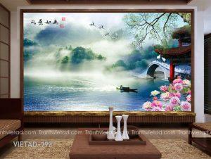 Tranh Dán Tường 3D Sơn Thủy VIETAD-992