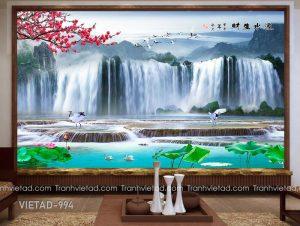 Tranh Dán Tường 3D Sơn Thủy VIETAD-994
