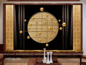 Tranh Dán Tường 3D Trang Sức VIETAD-913