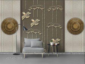 Tranh Dán Tường 3D Trừu Tượng VIETAD-1309