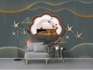 Tranh Dán Tường 3D Trừu Tượng VIETAD-1467
