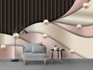 Tranh Dán Tường 3D Trừu Tượng VIETAD-908