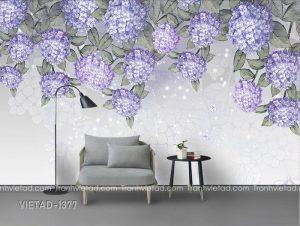 Tranh Dán Tường 3D Hoa VIETAD-1377
