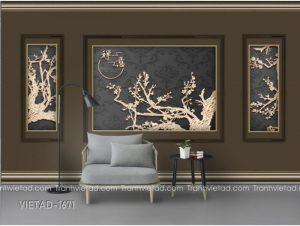 Tranh Dán Tường 3D Tường Nền Phong Cảnh VIETAD-1671