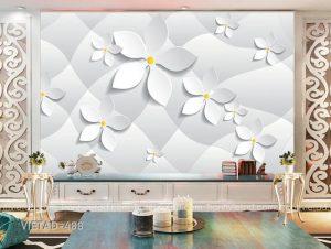 Tranh dán tường hoa 3d VIETAD-488