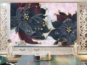 Tranh dán tường hoa trang sức VIETAD-558
