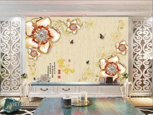 Tranh dán tường hoa trang sức VIETAD-566