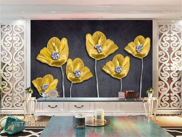 Tranh dán tường hoa trang sức VIETAD-591