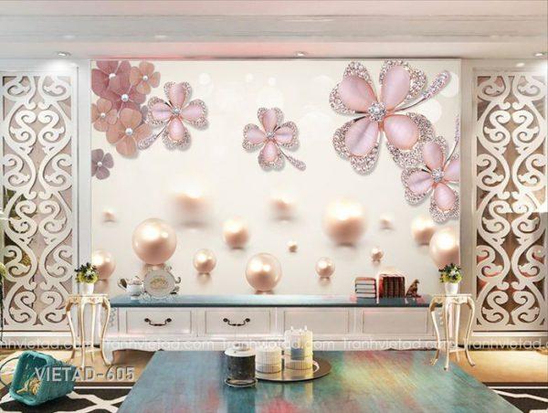 Tranh dán tường hoa trang sức VIETAD-605