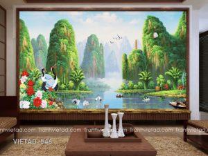 Tranh dán tường sơn thủy VIETAD-546