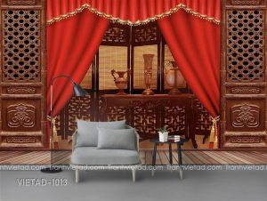 Tranh Dán Tường 3D Tường Nền VIETAD-1013