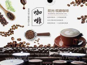 Tranh Dán Tường 3D Coffee VIETAD-943