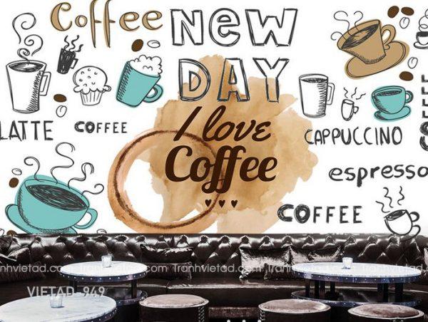 Tranh Dán Tường Coffee VIETAD-949