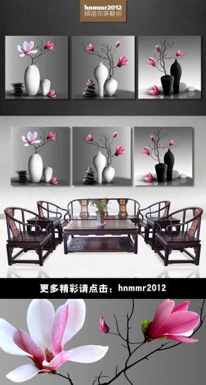 Tranh Treo Tường 3D Bình Hoa VIETAD-28