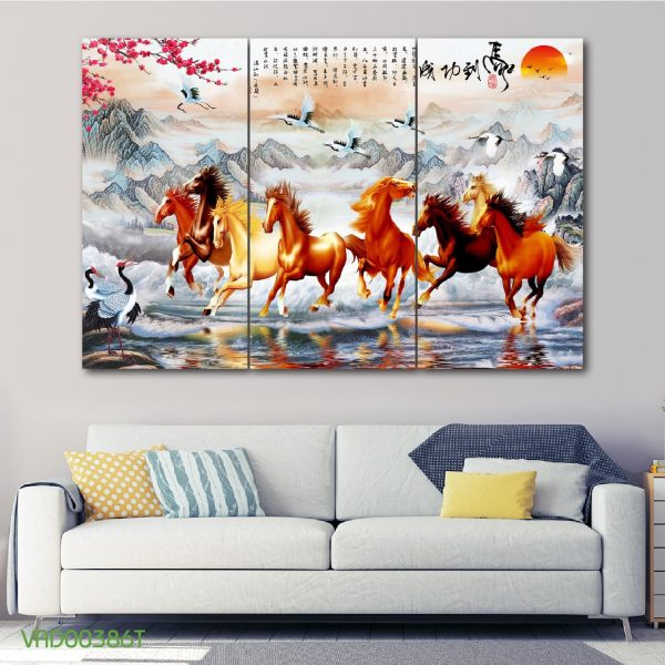 Tranh Treo Tường 3D Thuận Buồm Xuôi Gió VIETAD-34