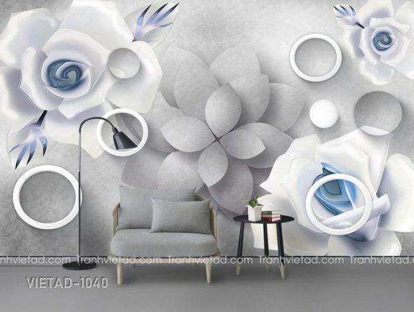 Tranh Dán Tường 3D Hoa VIETAD-1040