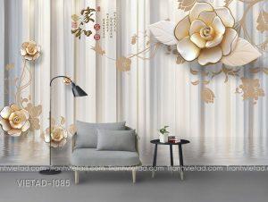 Tranh Dán Tường 3D Hoa VIETAD-1085