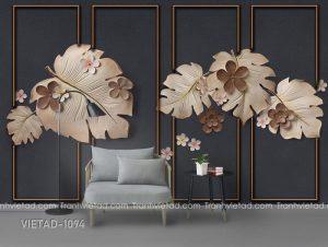 Tranh Dán Tường 3D Hoa VIETAD-1094