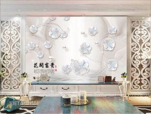 Tranh Dán Tường 3D Hoa VIETAD-1146