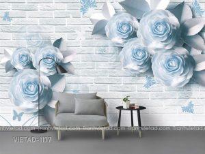 Tranh Dán Tường 3D Hoa VIETAD-1177
