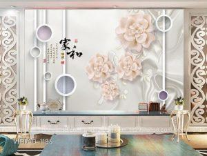 Tranh Dán Tường 3D Hoa VIETAD-1186