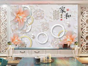 Tranh Dán Tường 3D Hoa VIETAD-1260