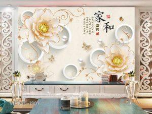 Tranh Dán Tường 3D Hoa VIETAD-1307