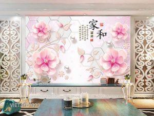 Tranh Dán Tường 3D Hoa VIETAD-1323