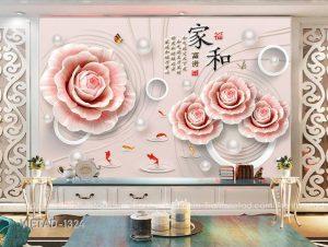 Tranh Dán Tường 3D Hoa VIETAD-1324