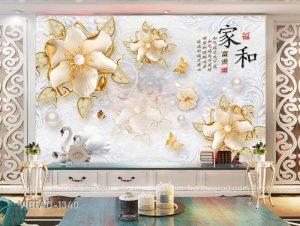 Tranh Dán Tường 3D Hoa VIETAD-1340