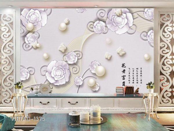 Tranh dan tuong 3d hoa VIETAD-1375