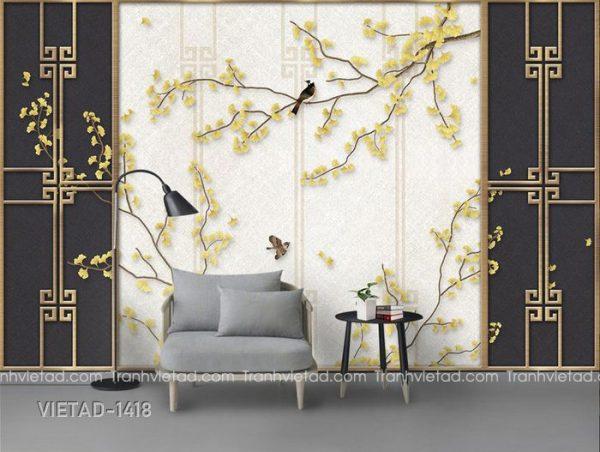 Tranh Dán Tường 3D Hoa VIETAD-1418