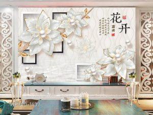 Tranh Dán Tường 3D Hoa VIETAD-1437
