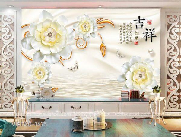 Tranh Dán Tường 3D Hoa VIETAD-1475