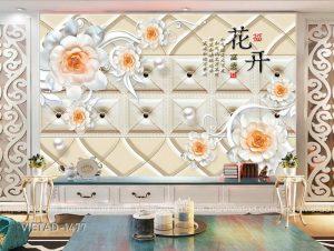 Tranh Dán Tường 3D Hoa VIETAD-1477