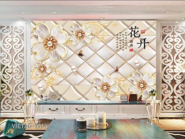 Tranh Dán Tường 3D Hoa VIETAD-1514