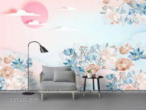 Tranh Dán Tường 3D Hoa VIETAD-1579