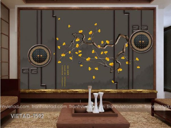 Tranh dan tuong 3d hoa VIETAD-1592
